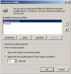 vmware-windows-hardware-profiles